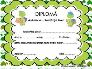 Diploma clasa pregatitoare